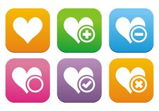 Love flat style icons Royalty Free Stock Images