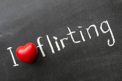 Love flirting Stock Image