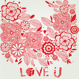 Love floral background Royalty Free Stock Photos