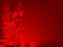 Love floral design with orchids Stock Image