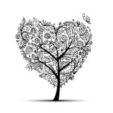 Love floral tree for your design Royalty Free Stock Image