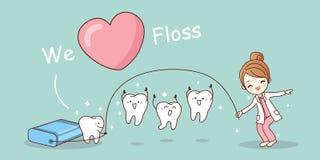 We love floss Stock Photo