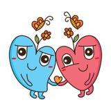 Love flower butterfly stock illustration