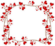 Love Flower Frame Stock Photo