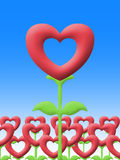 Love flower in garden illustration image Royalty Free Stock Images
