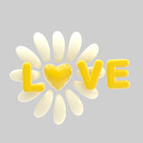 Love and flower made of heart and petals Royalty Free Stock Photography