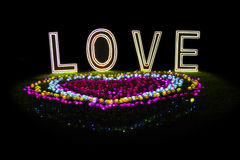 Love Flower Neon Light Royalty Free Stock Photos