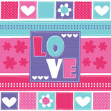 Love and flower vector illustration Stock Image