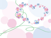 Love and flowers. An abstract illustration on the theme Hearts and flowers Stock Image