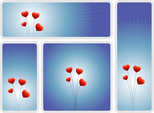 Love flowers banner set Stock Photography