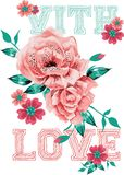 With love flowers design Royalty Free Stock Photo