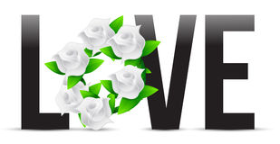 Love flowers illustration designs Stock Photo
