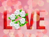 Love flowers illustration designs Royalty Free Stock Image