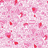 Love flowers seamless pattern background Stock Photography