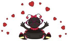 Love fly around of ladybug Stock Images
