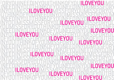 Love font pattern Royalty Free Stock Photos
