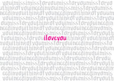 Love font pattern Royalty Free Stock Photography