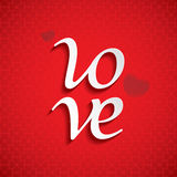 LOVE font type Royalty Free Stock Photo