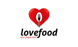Love Food Logo Royalty Free Stock Photo