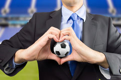 Love for the football Stock Photos