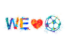 We love football Soccer Ball Royalty Free Stock Image