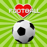 Love Football Theme Royalty Free Stock Images