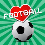 Love Football Theme Royalty Free Stock Image