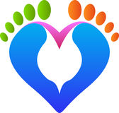 Love footprint. A vector drawing represents love footprint design Royalty Free Stock Photo