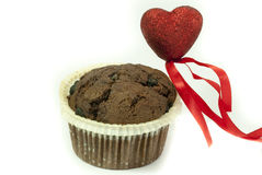 Love For Chocolate Muffin Stock Photo