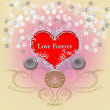 LOVE FOREVER CARD Stock Image