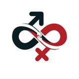 Love Forever conceptual logo, vector symbol created with infinit Royalty Free Stock Image