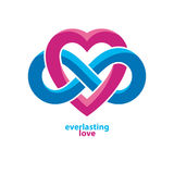 Love Forever conceptual sign, vector symbol created with infinit Stock Photography