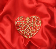 Love forever. Heart shape. On red Royalty Free Stock Photo