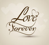Love forever stylish Beautiful text design Stock Image