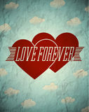 Love forever vintage card Stock Image