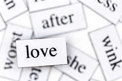 Love. Four letters, one word, a feeling Stock Photo