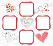Love frame Stock Image
