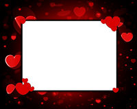 Love Frame. Empty frame made out of hearts, for love concepts Stock Photo