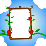 Love frame Royalty Free Stock Photography