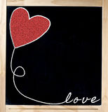 Love Frame on Blackboard Royalty Free Stock Image
