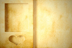 Love frame with heart and copy space fot text Royalty Free Stock Photos