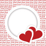 Love frame with hearts Stock Images