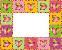 Love. Love frame with hearts. Vector illustration Stock Photography