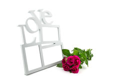 love frame, rose Royalty Free Stock Photos