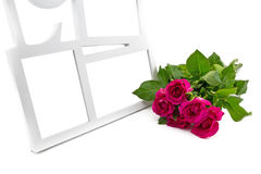 love frame, rose Royalty Free Stock Images