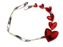 Love frame, silver Royalty Free Stock Image