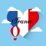 Love france heart travel Royalty Free Stock Photo