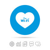 Love Free wifi sign. Wifi symbol. Royalty Free Stock Photo