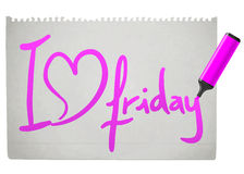 Love friday. Creative design of love friday Stock Photo