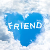 Love friend concept tell by shy cloud nature Royalty Free Stock Photos